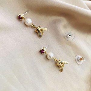 Kate Spade Bee Pearl Rhinestone Stud Earrings